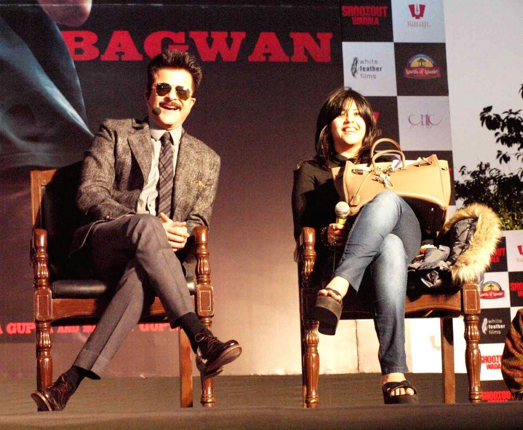 TV and film producer  Ekta Kapoor and Anil Kapoor launched the first look trailer of  Shootout at Wadala in GIP Mall,Noida.(Photo:IANS/Amlan) - Ekta Kapoor