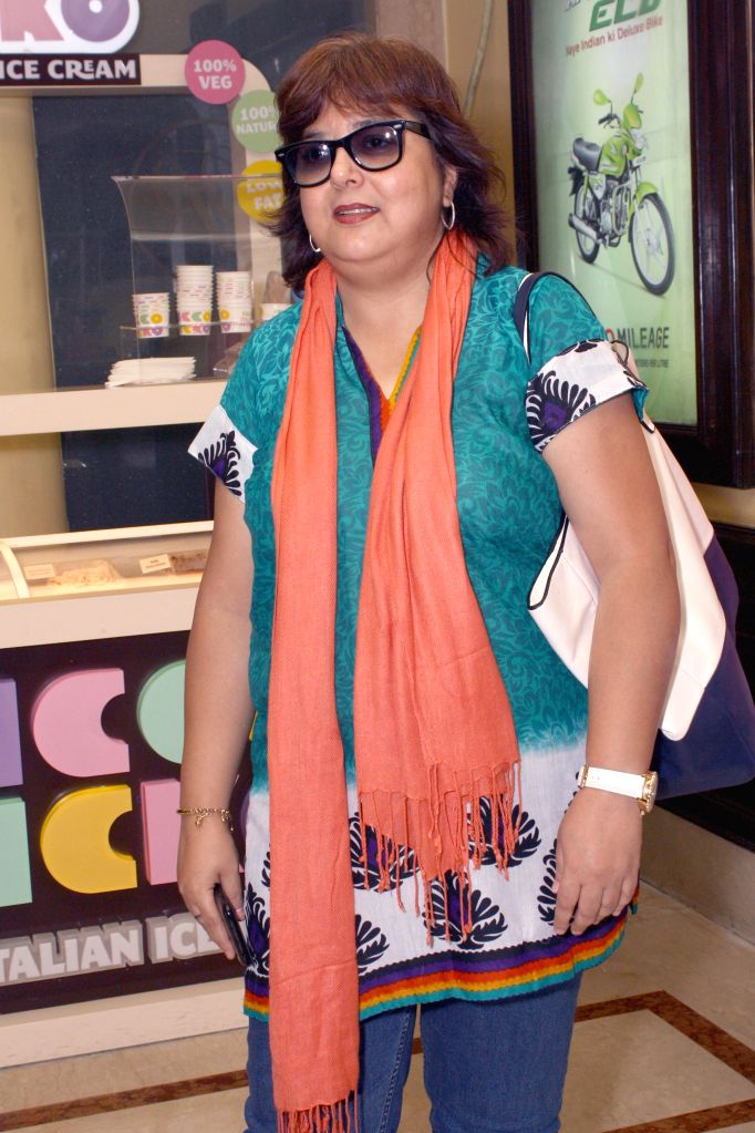 TV designer Zeba Sajid during the press conference of her film ``Identity Card`` in New Delhi on August 23, 2014.