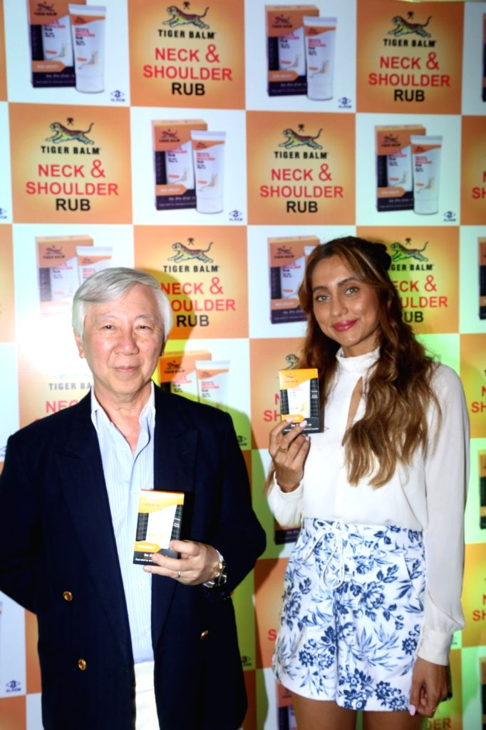 TV host Anusha Dandekar  at  a product launch in Mumbai on Feb 12, 2018.