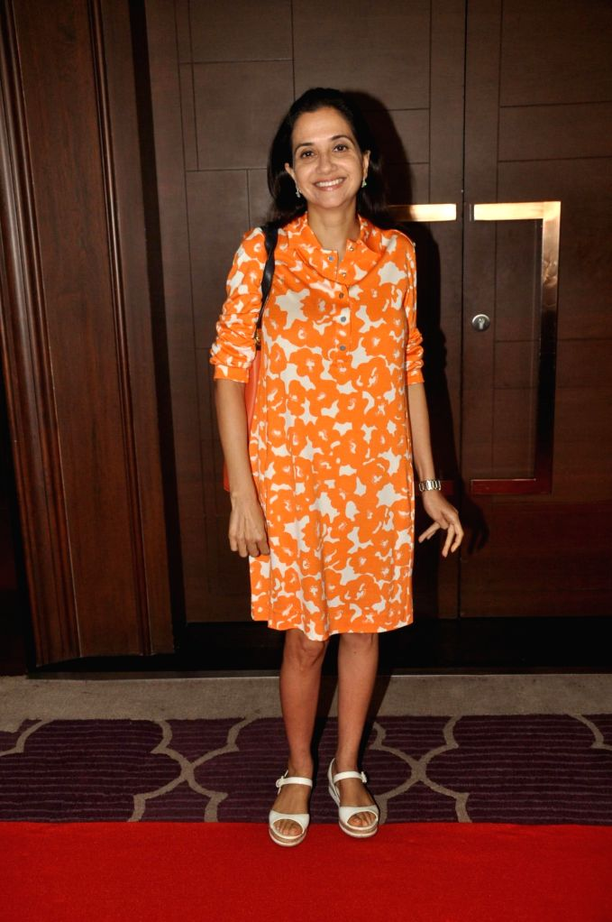 TV personality Anupama Chopra during the co-host power luncheon for women in Mumbai on April 30, 2014. - Anupama Chopra