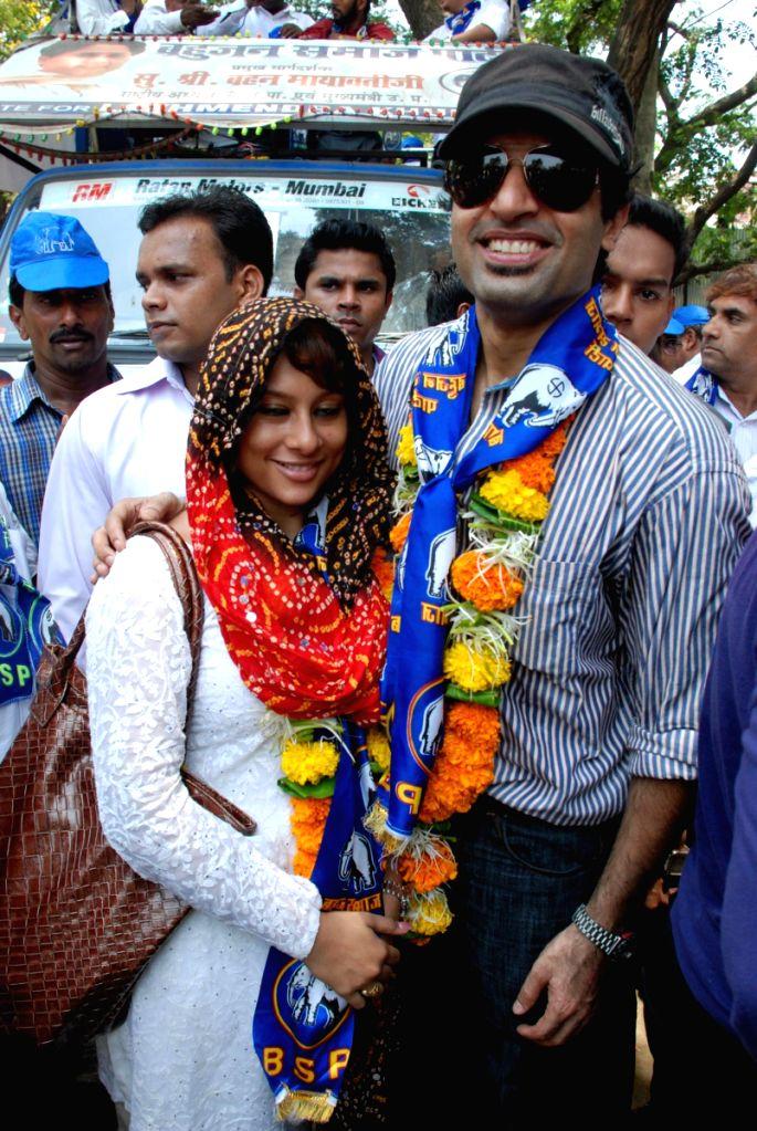 TV stars campaign for Political Leader (BSP) Lakhmendra Khurana.