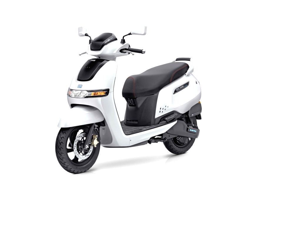 TVS iQube electric scooter.