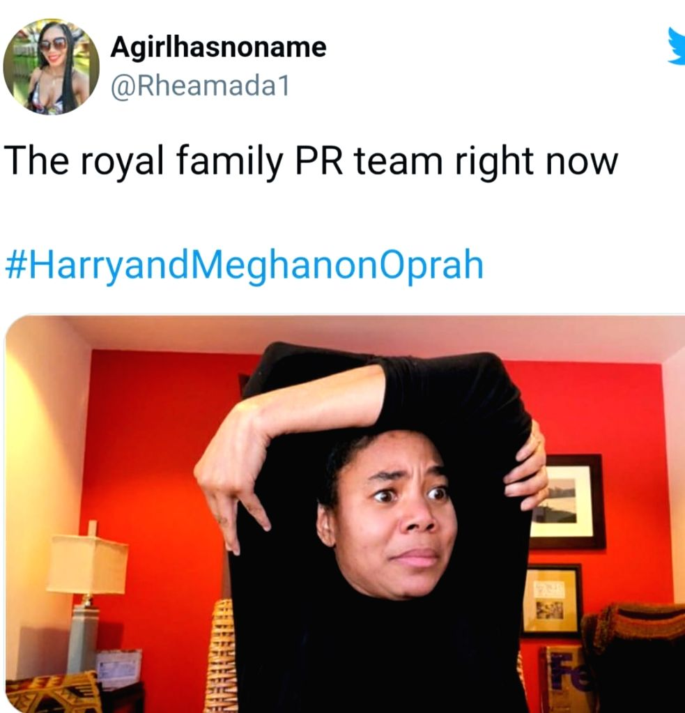 Twitter flooded with jokes, memes post Harry-Meghan Interview