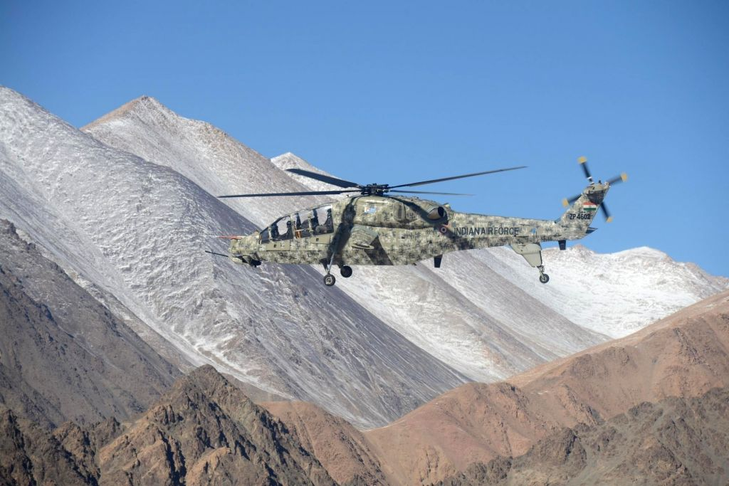 Two light combat choppers developed by HCL deployed for operations at Ladakh