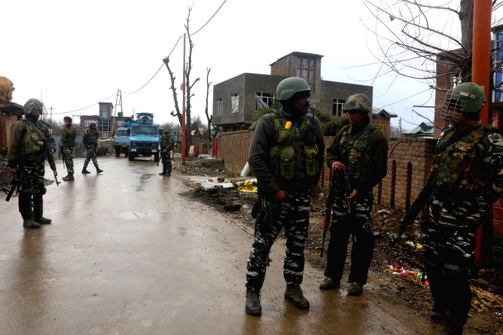 Two Local Militants killed in an Encounter at Khandipora Bjbehara Anantnag district   (Photo: Nissar Malik/IANS) - Malik