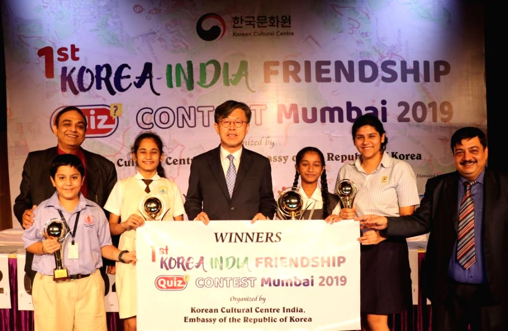 "Two Mumbai schoolgirls - Pratima Tawde and Sarika Tripathi won the top prizes at the ""1st Korea – India Friendship Quiz Contest Mumbai 2019"", and will go on a weeklong trip to South Korea.. - Sarika Tripathi"