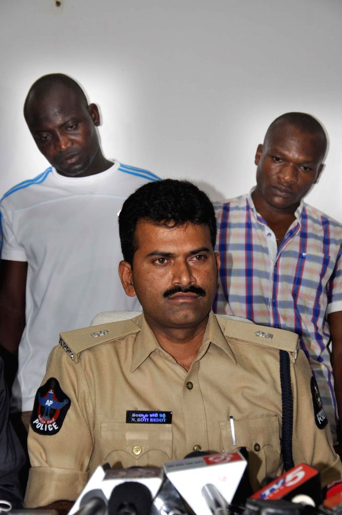 Two Nigerian national arrested by police with 17 grams of Cocain in Hyderabad on June 16, 2014.