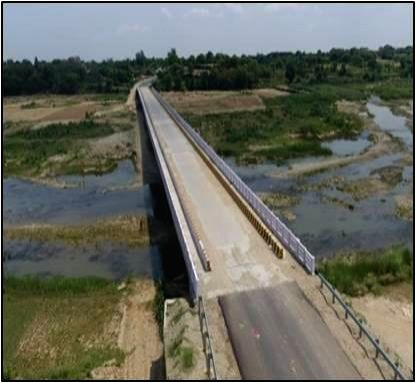Two of the six critical bridges, built by the BRO in Jammu region, that will be inaugurated by Defence Minister Rajnath Singh on Thursday.. - Rajnath Singh