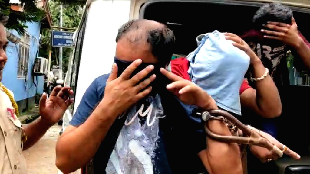 Two police officials and a home guard of the Hatigaon Police Station were arrested by the Dispur Police for allegedly looting a woman from Mizoram, in Guwahati on July 26, 2019.