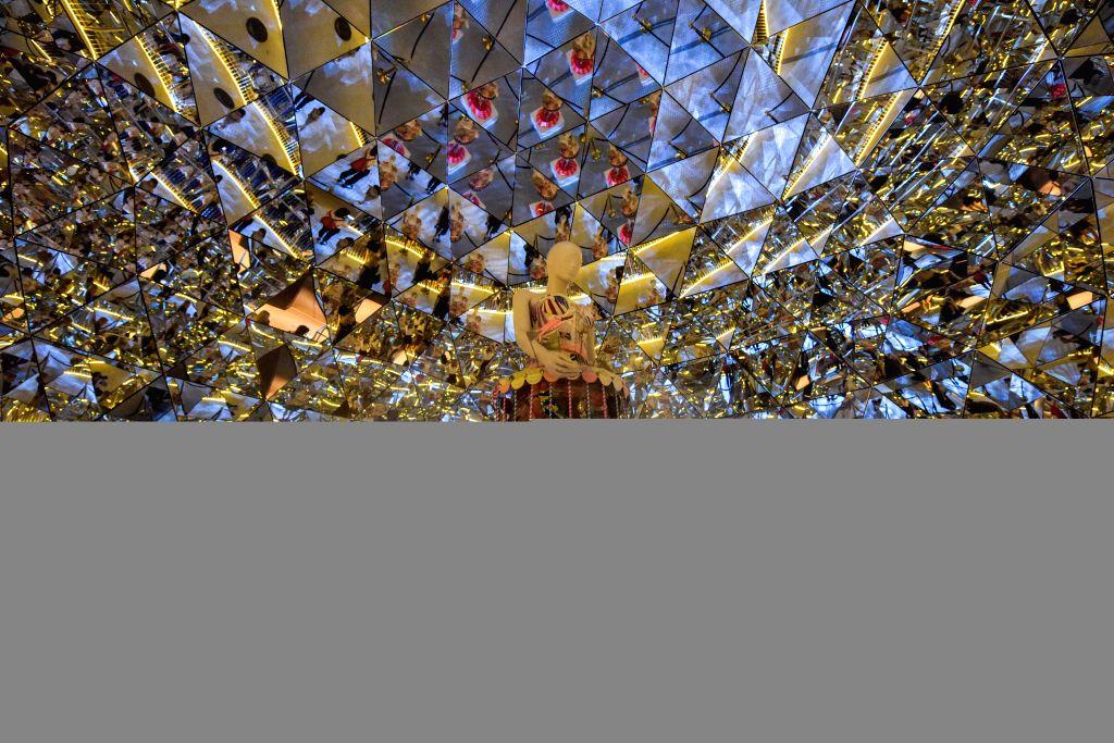 TYROL (AUSTRIA), Aug. 26, 2019 A man visits the Swarovski Crystal Worlds in Wattens, Tyrol, Austria, Aug. 26, 2019. Swarovski Crystal Worlds was opened in 1995 to mark the centennial ...