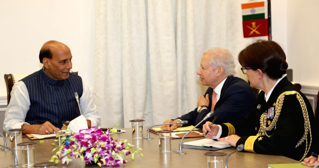 U.S. Ambassador to India Kenneth Ian Juster calls on Union Defence Minister Rajnath Singh, in New Delhi on Dec 3, 2019. - Rajnath Singh
