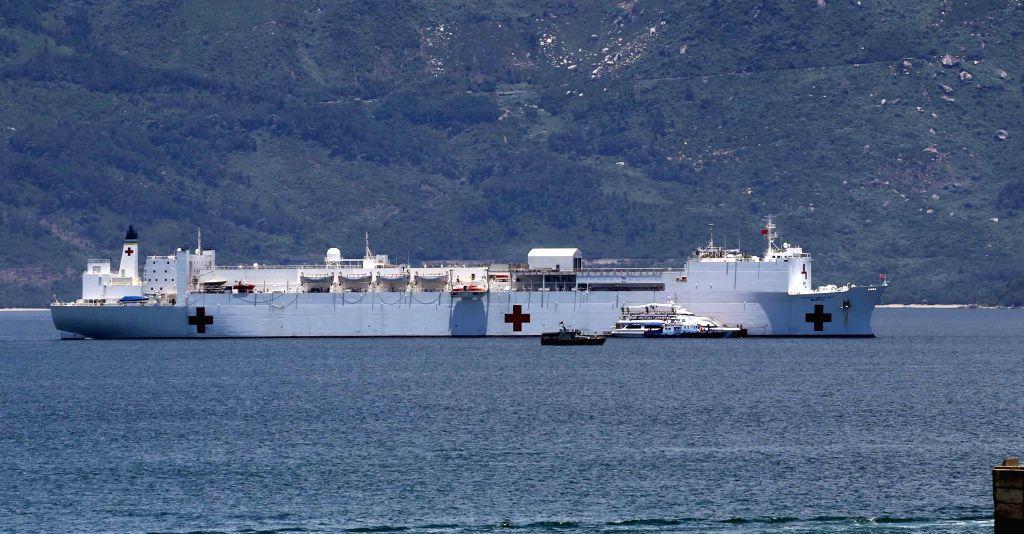 U.S. naval hospital ship Mercy docks at Tien Sa port in central Vietnam's Da Nang city, Aug. 17, 2015. The U.S. naval hospital ship Mercy and high-speed vessel ...