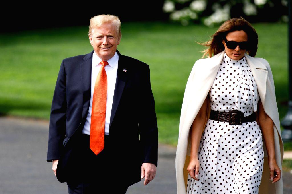 U.S. President Donald Trump and first lady Melania Trump. (Xinhua/Ting Shen/IANS)