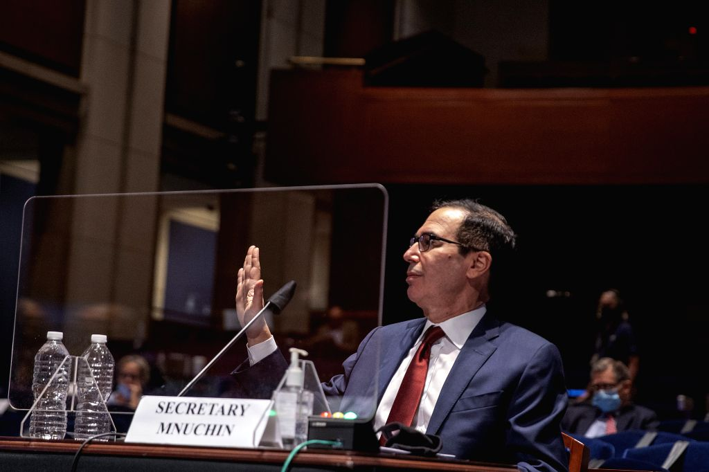 U.S. Treasury Secretary Steven Mnuchin testifies before the U.S. House Committee on Financial Services on Oversight of the Treasury Department's and Federal ...