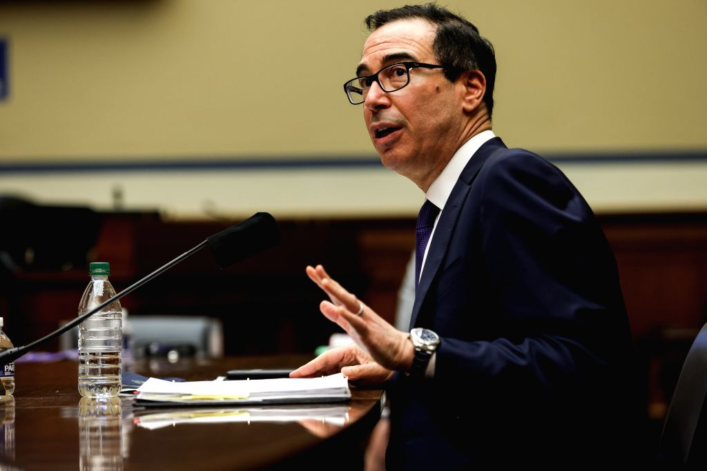 U.S. Treasury Secretary Steven Mnuchin testifies before the U.S. House Select Subcommittee on the Coronavirus Crisis on the Administration's Response to the ...