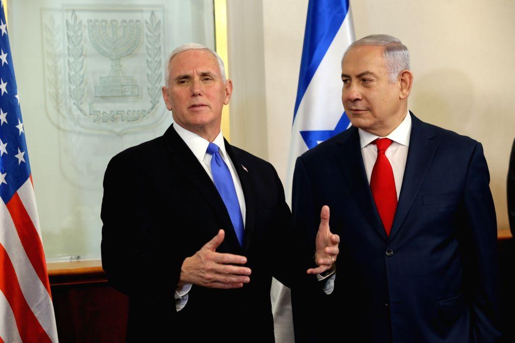 U.S. Vice President Mike Pence with Israeli Prime Minister Benjamin Netanyahu in Jerusalem - Benjamin Netanyahu