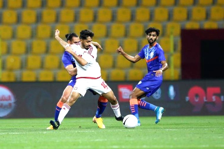 UAE beat India 5???0 in second international friendly. (Credit : indian football team /twitter)