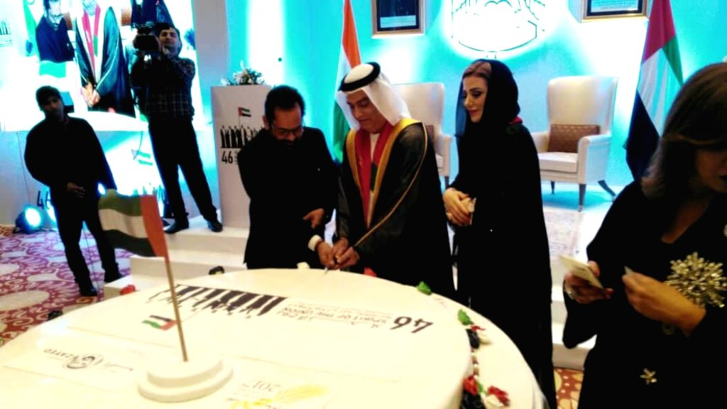 UAE embassy in Delhi celebrates 46th National Day.