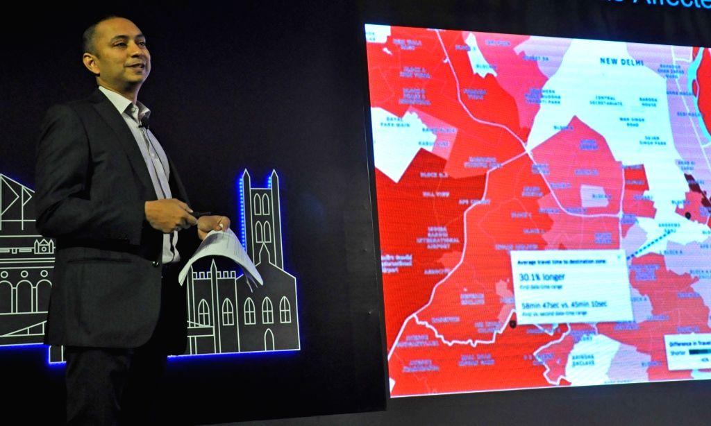 "Uber Head (East India and Bangladesh) Ratul Ghosh addresses at the launch of Uber ""Movement"" in Kolkata on Feb 5, 2020. - Ratul Ghosh"
