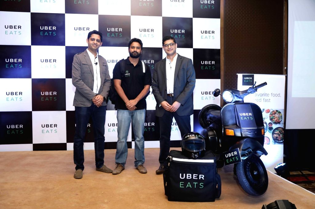 UberEATS India Head Bhavik Rathod and Delhi-NCR General Manager Faiz Abdulla during the launch of UberEATS service in Delhi and NCR; in Gurugram on June 28, 2017.