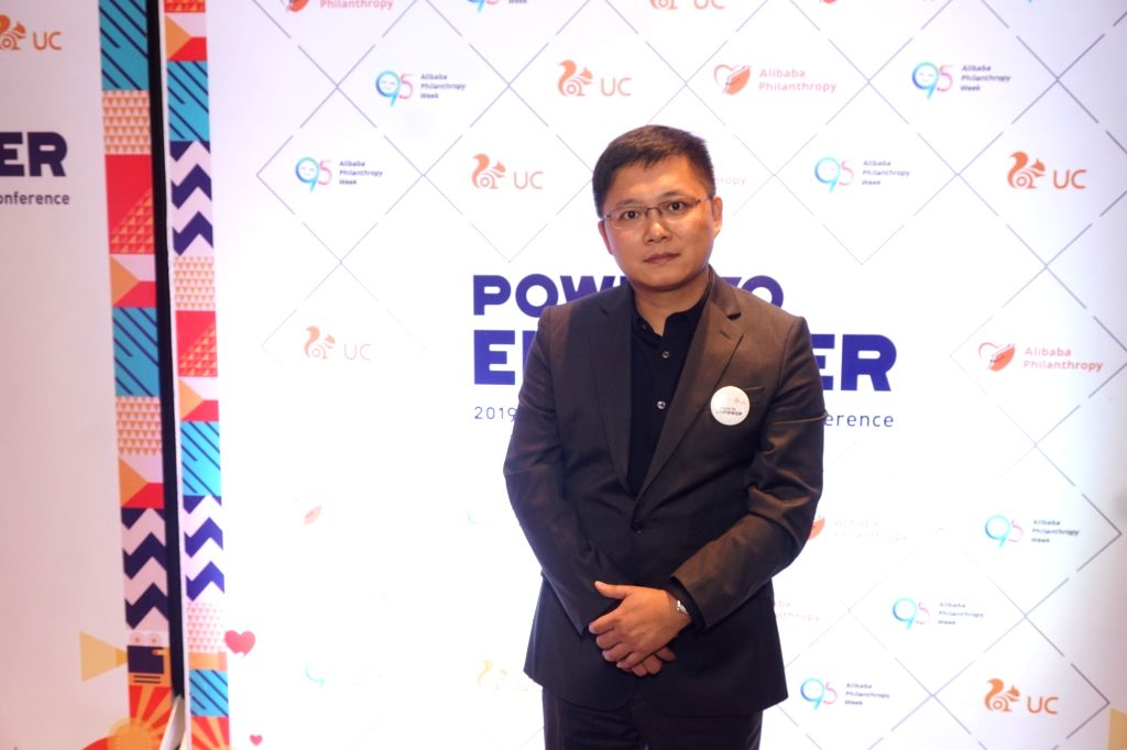 UCWeb Global Business Vice President Huaiyuan Yang at the second Philanthropy Forum in India hosted by Alibaba Group???s UCWeb, on behalf of its philanthropic arm Alibaba Foundation, in ...
