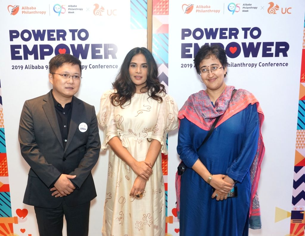 UCWeb Global Business Vice President Huaiyuan Yang, actress Richa Chaddha and AAP leader Atishi Marlena at the second Philanthropy Forum in India hosted by Alibaba Group???s UCWeb, on ... - Richa Chaddha