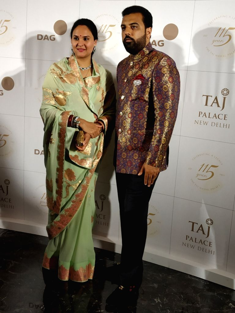 Udaipur Royalty Prince Lakshyaraj Singh Mewar and his wife Nivritti Kumari during the celebration of the second edition of 115 Years Charity Gala in New Delhi on Aug 9, 2019.