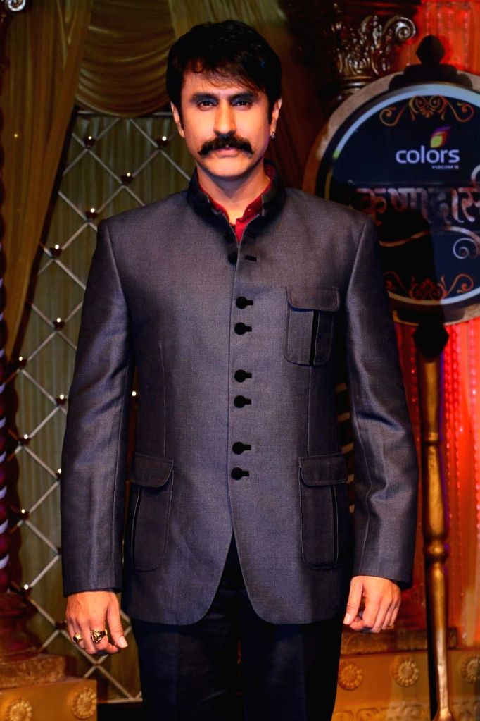 Uday Tikekar as Pradyuman during the lauch of new TV Serial 'Krishnadasi' in Colors TV Channel in Mumbai.