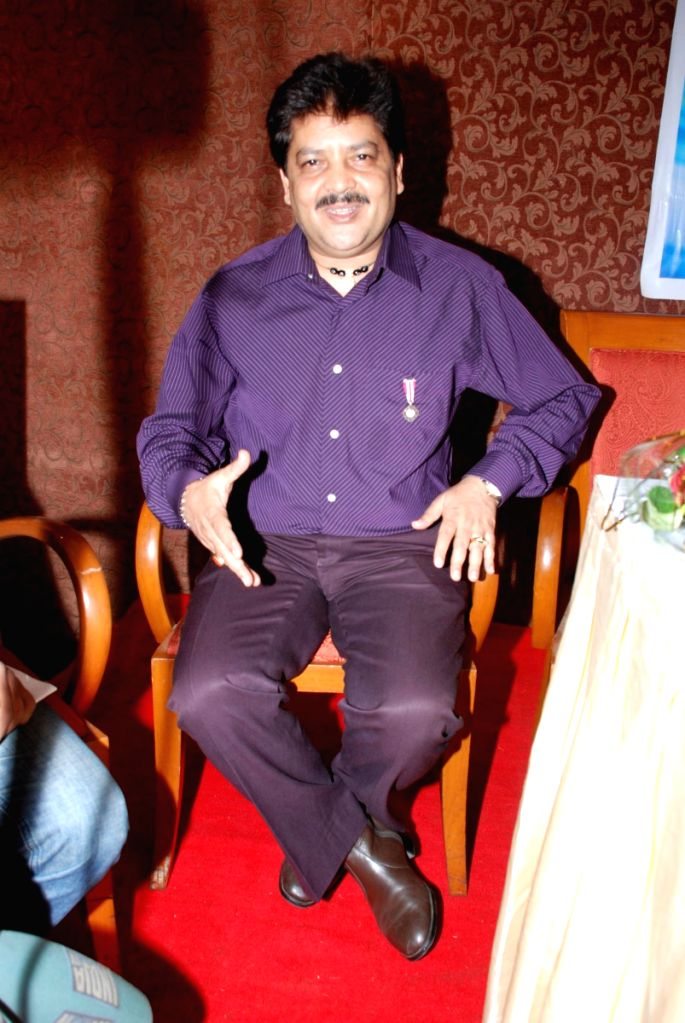 Udit Narayan at the Bhojpuri film awards press meet.