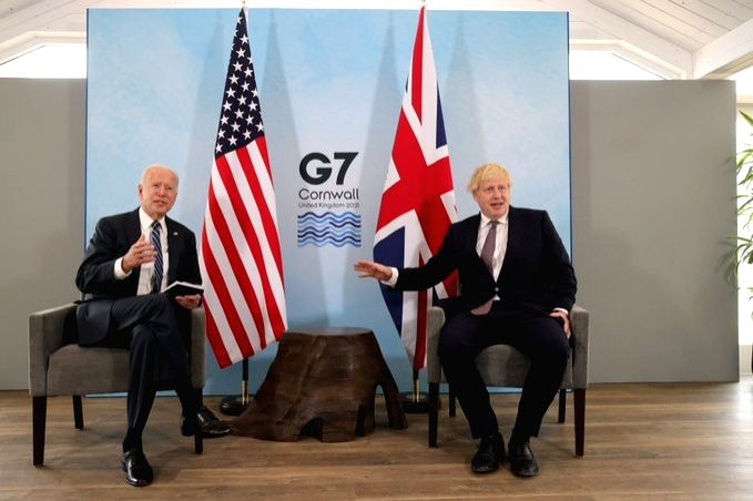 UK Prime Minister Boris Johnson and US President Joe Biden (Pic credit:https://twitter.com/G7) - Boris Johnson