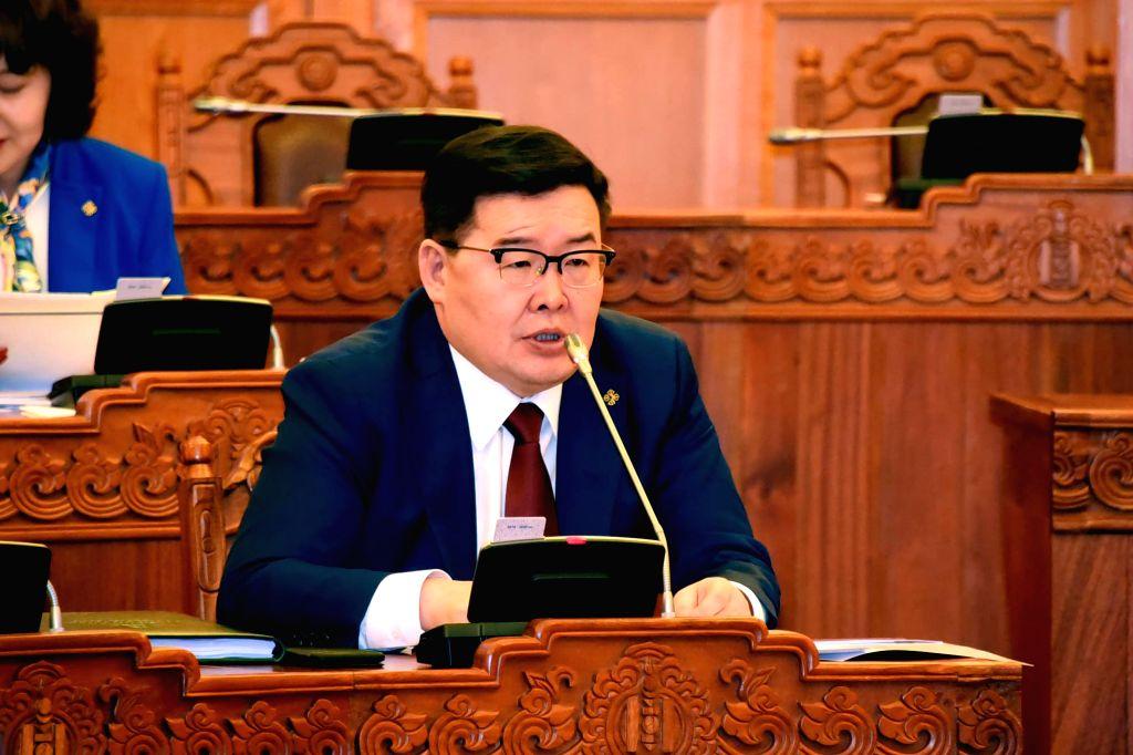ULAN BATOR, Feb. 1, 2019 - Undated photo shows Gombojav Zandanshatar. The Mongolian parliament elected Gombojav Zandanshatar on Feb. 1, 2019 as its new speaker through a vote of 95.2 percent in the ...