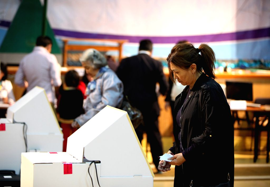 ULAN BATOR, June 29, 2016 - Mongolian voters cast their votes for the parliamentary elections at a polling station in Ulan Bator, Mongolia, June 29, 2016. Mongolians voted on Wednesday for a new ...
