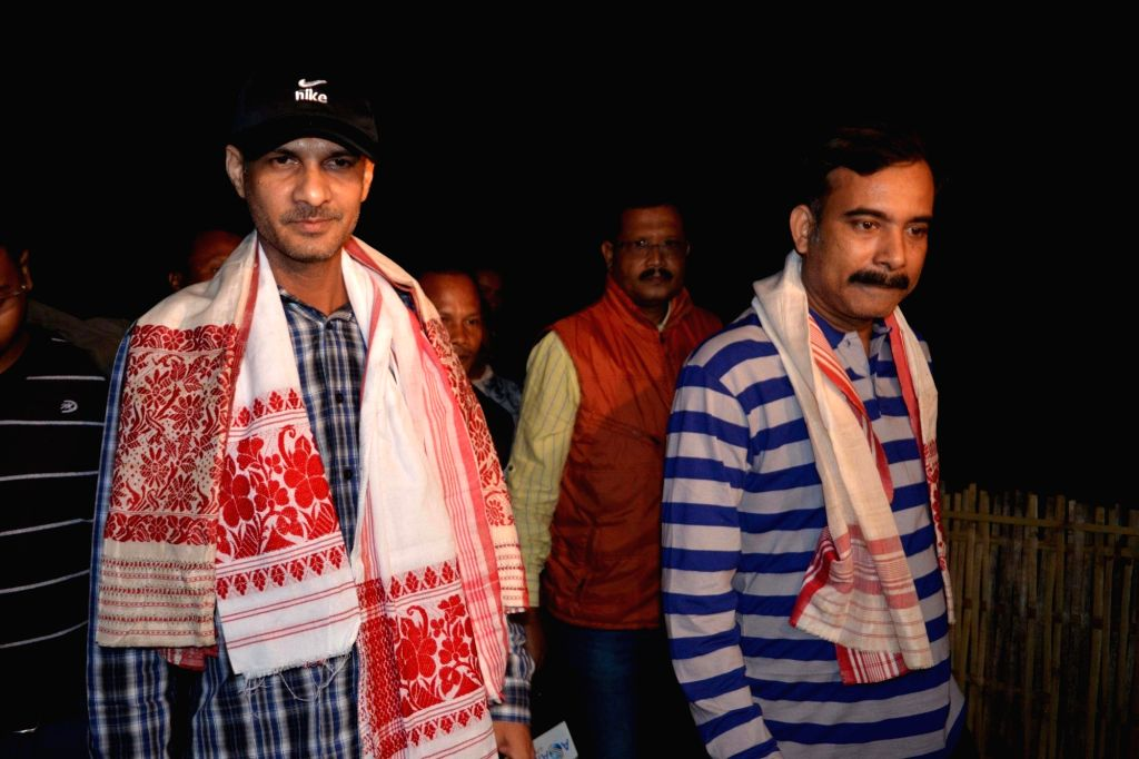 Ulfa leaders Babul Goswami and Lakhi Goswami who were deported along with Anup Chetia arrive at their homes in Nagaon of Assam on Nov 23, 2015.