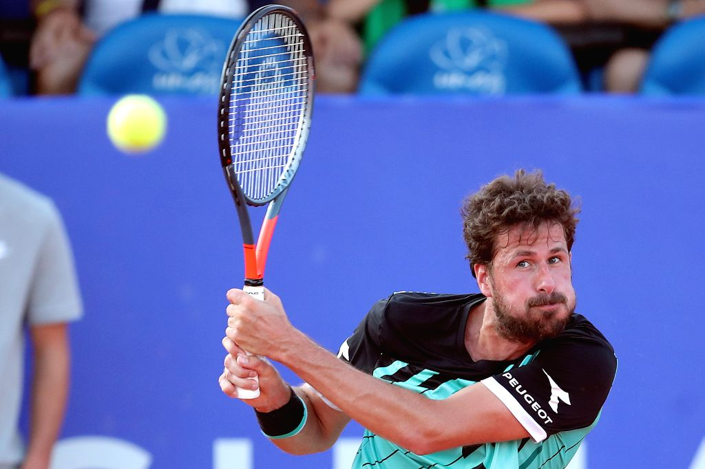 UMAG, July 17, 2019 - Robin Haase of the Netherlands returns the shot to Andrey Rublev of Russia during the first round match at 2019 ATP Croatia Open in Umag, Croatia, on July 16, 2019. Rublev won ...
