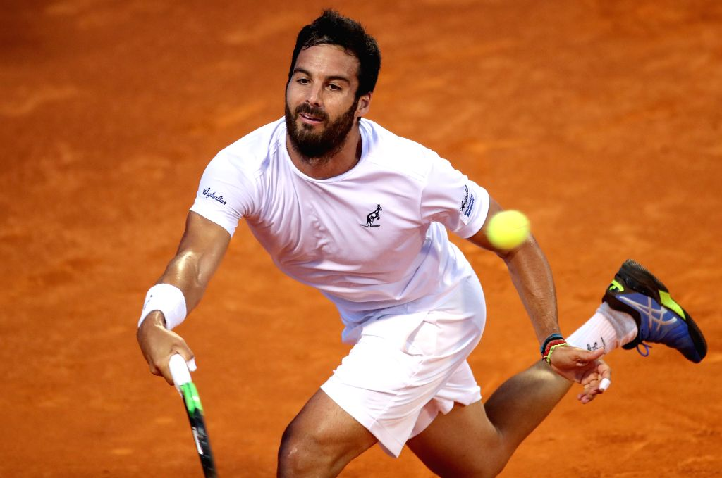 UMAG, July 21, 2019 - Salvatore Caruso of Italy returns the shot to Dusan Lajovic of Serbia during the semi-finals at 2019 ATP Croatia Open in Umag, Croatia, on July 20, 2019. Caruso handed over the ...