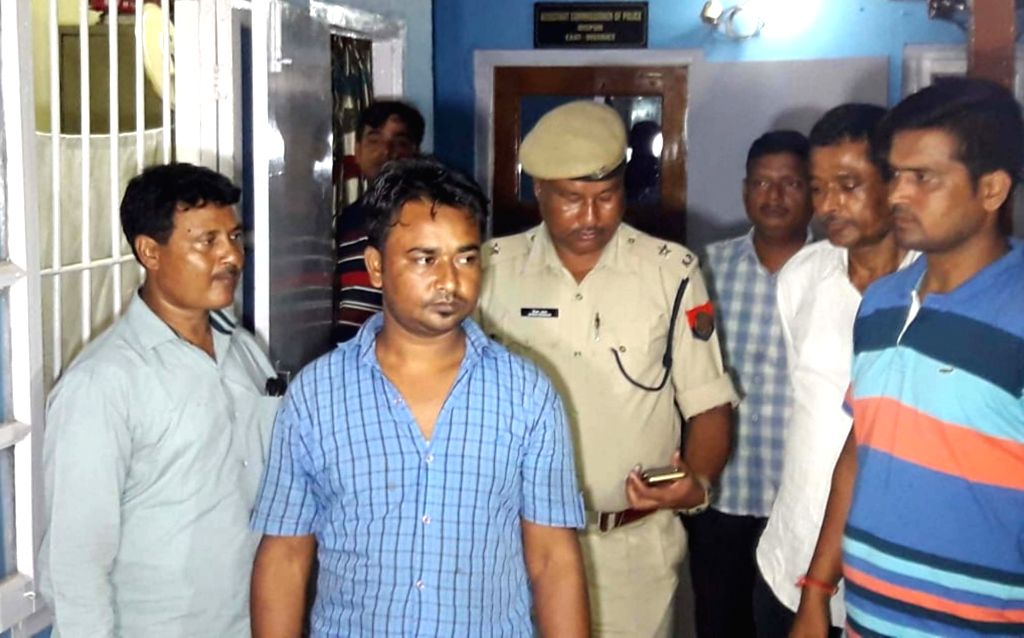 Umar Faruk, who was arrested from Barnihat for maintaining close links with Hizbul Mujahideen terrorist Qamar-uz-Zaman, in police custody at Dispur police station, in Guwahati on Sept 15, ...