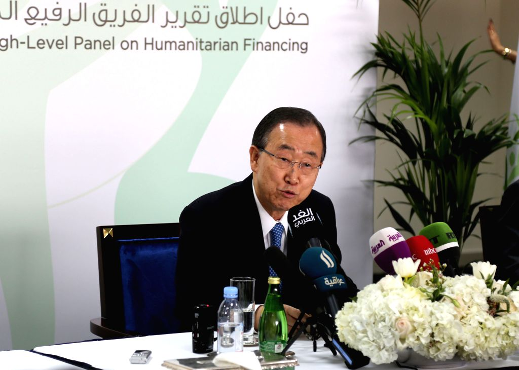 UN Secretary General Ban Ki-moon speaks at a press conference in Dubai,  United Arab Emirates, on Jan. 17, 2016. UN Secretary General Ban Ki-moon on Sunday urged more ...