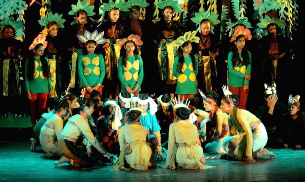 Underprivileged children perform an adaptation of Jungle Book in Kolkata on Dec 8, 2019.