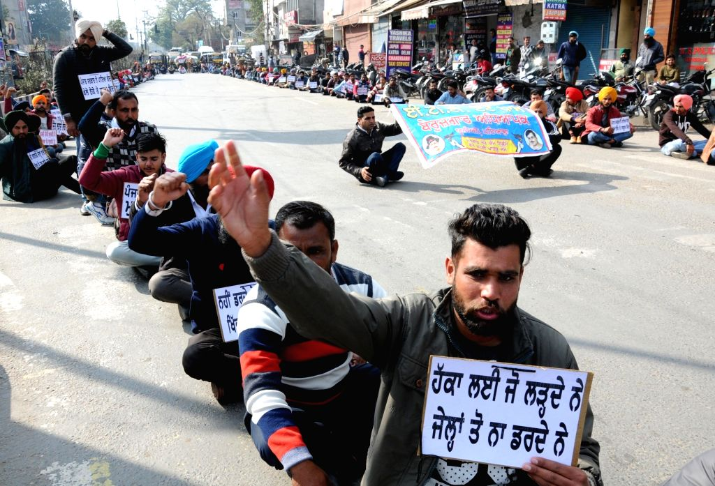 Unemployed teachers under the banner of Unemployed Elementary Teacher Training (ETT)- Teacher Eligibility Test (TET) Pass Union, stage a demonstration to press for their various demands in ...