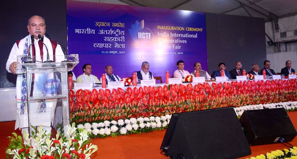 Union Agriculture and Farmers Welfare, Rural Development and Panchayati Raj Minister Narendra Singh Tomar addresses at the inauguration of 'The First Ever India International Cooperatives ... - Narendra Singh Tomar