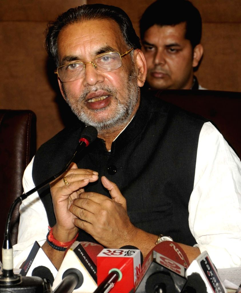 Union Agriculture Minister Radha Mohan Singh addresses a press conference in Kolkata, on June 20, 2016. - Radha Mohan Singh