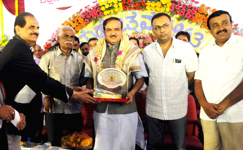 "Union Chemicals and Fertilizer Minister Ananth Kumar during inauguration of ""Suvarna Mahotsava"" (Golden Jubilee) of Dakshina Kannada Koota Brahamanara Mitra Mandali at Guru Narasimha ... - Ananth Kumar"
