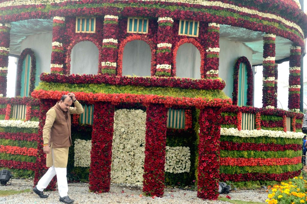 Union Chemicals and Fertilizers Minister Ananth Kumar visits Independence Day Flower Show at Lalbagh in Bengaluru, on Aug 14, 2016. - Ananth Kumar