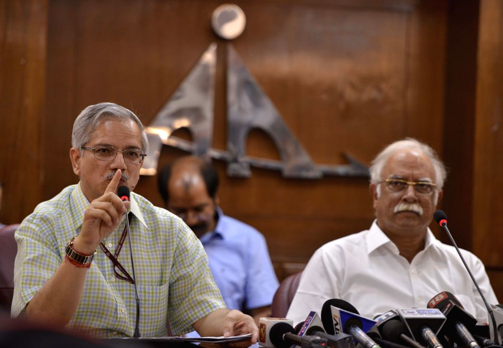 Union Civil Aviation Minister Ashok Gajapathi Raju Pusapati briefs media regarding the second round of bidding under RCS-UDAN, in New Delhi on May 24, 2017. - Ashok Gajapathi Raju Pusapati