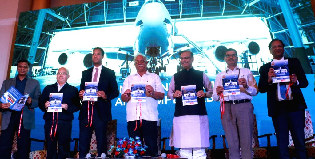 Union Civil Aviation Minister Ashok Gajapathi Raju Pusapati and Union MoS Civil Aviation Jayant Sinha at the launch of the Aircraft Maintenance Engineering (AME) Apprenticeship Programme, ... - Ashok Gajapathi Raju Pusapati and Aviation Jayant Sinha