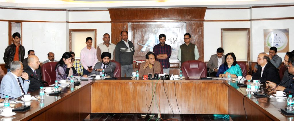Union Civil Aviation Minister Suresh Prabhu addresses a press conference on one-year achievements of the Ministry of Civil Aviation, in New Delhi, on March 7, 2019. - Suresh Prabhu