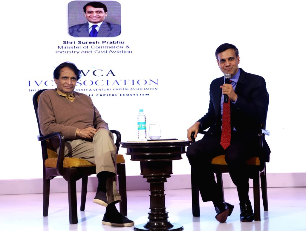 Union Commerce and Industry and Civil Aviation Minister Suresh Prabhu at the IVCA Conclave 2019, in New Delhi, on March 7, 2019. - Suresh Prabhu