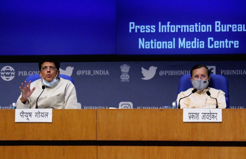 Union Commerce and Industry and Railways Minister Piyush Goyal and Union Environment, Forest and Climate Change, Information and Broadcasting and Heavy Industries and Public Enterprises ... - Piyush Goyal