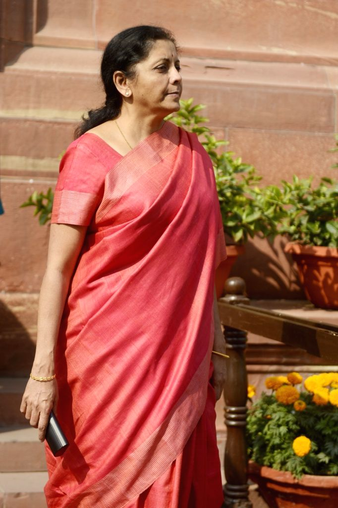 Union Commerce and Industry Minister Nirmala Sitharaman at the Parliament in New Delhi on Nov 29, 2016. - Nirmala Sitharaman