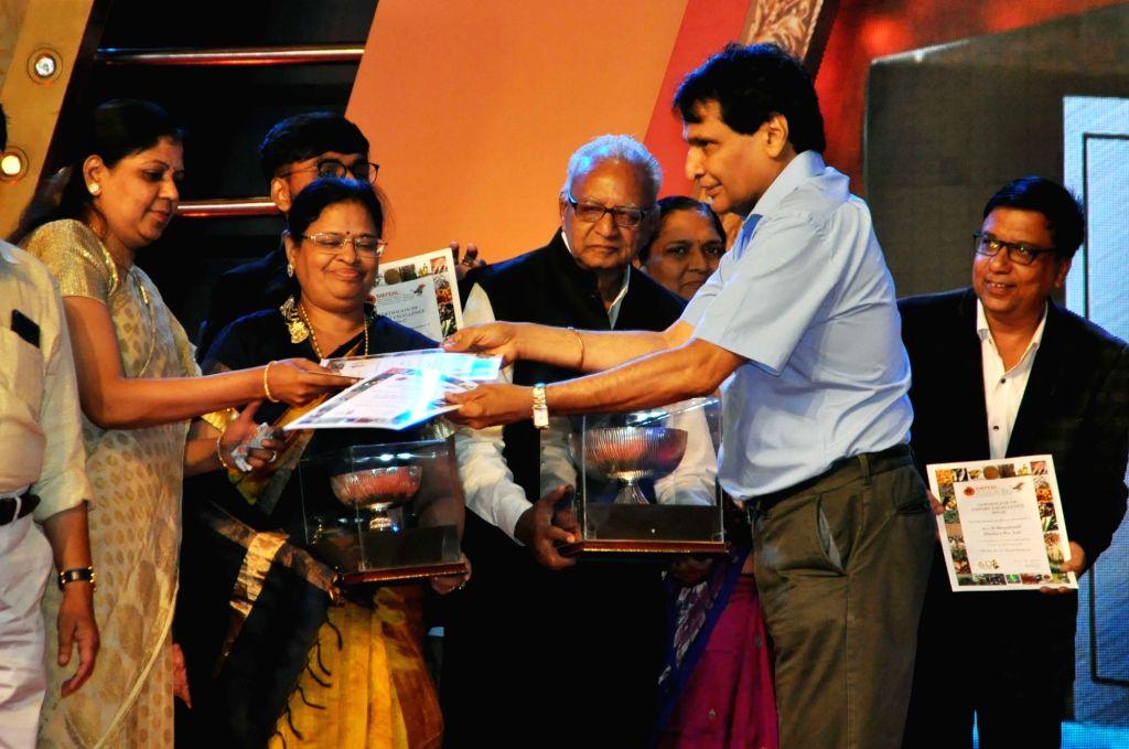 Union Commerce and Industry Minister Suresh Prabhakar Prabhu during the presentation of SHEFEXIL Awards For Export Excellence, in Kolkata on July 7, 2018. - Suresh Prabhakar Prabhu